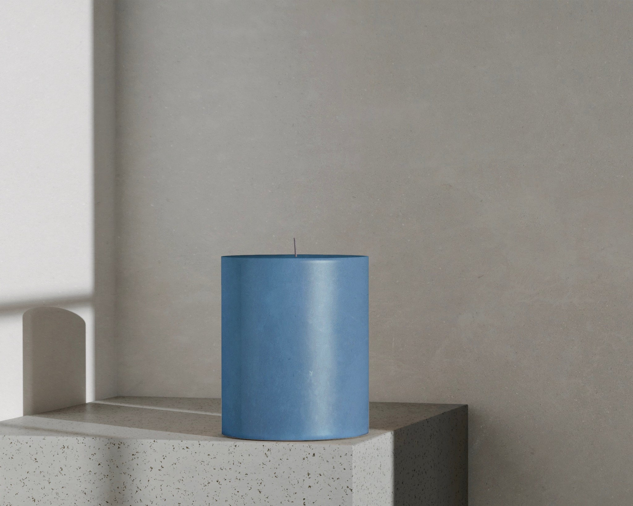Pillar in Olympic Blue