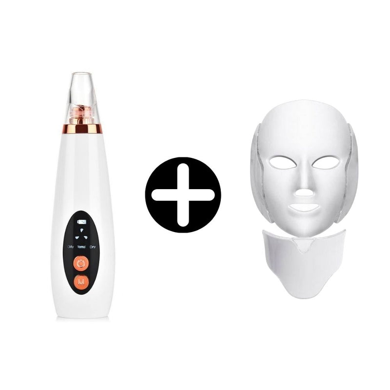 Khairos Pore Vacuum™ & LED Light Therapy Mask Bundle