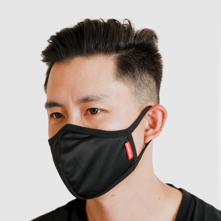 One Mask - 5 INDIVIDUAL PACKS (Black)