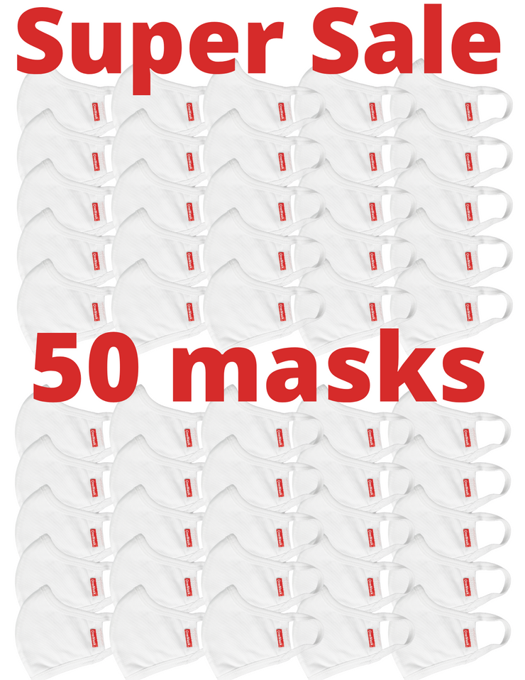 One Mask - 50 INDIVIDUAL PACKS (White)