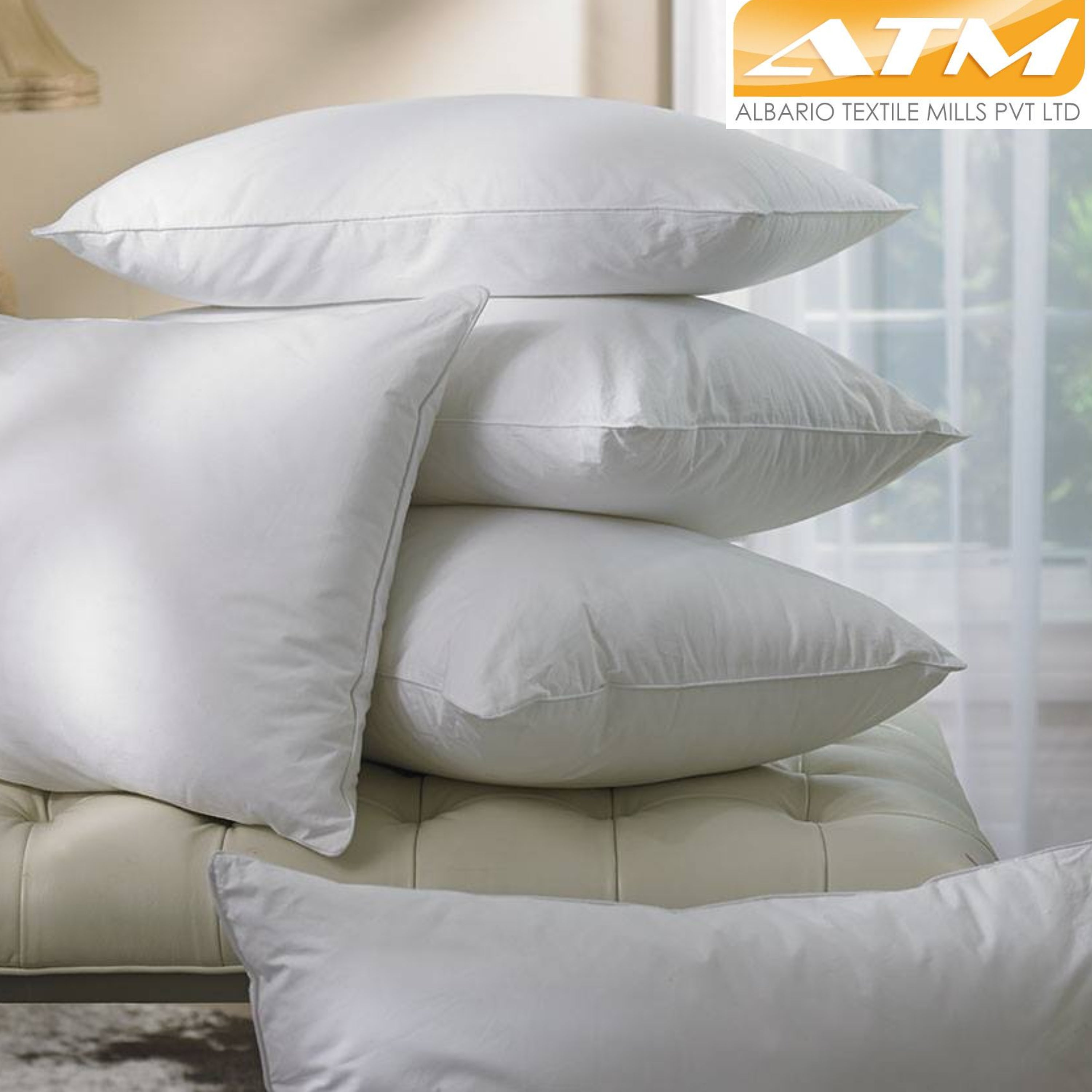 Albario-Signature Luxury Pillow Set of Two (Vacuumed Box Packed)
