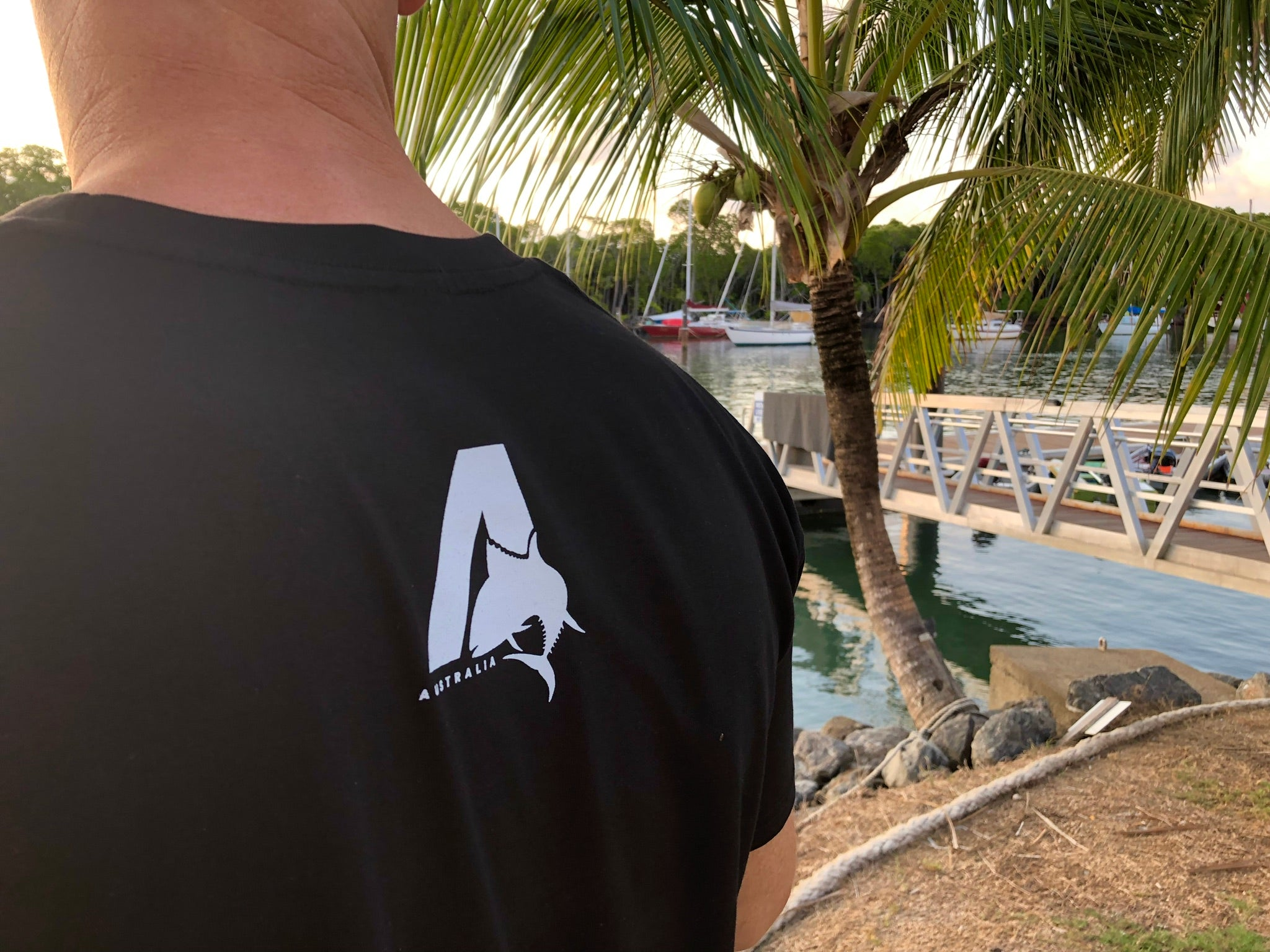 Cotton t-shirt for fishing and boating lifestyle