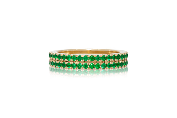 Double Row Emerald Band