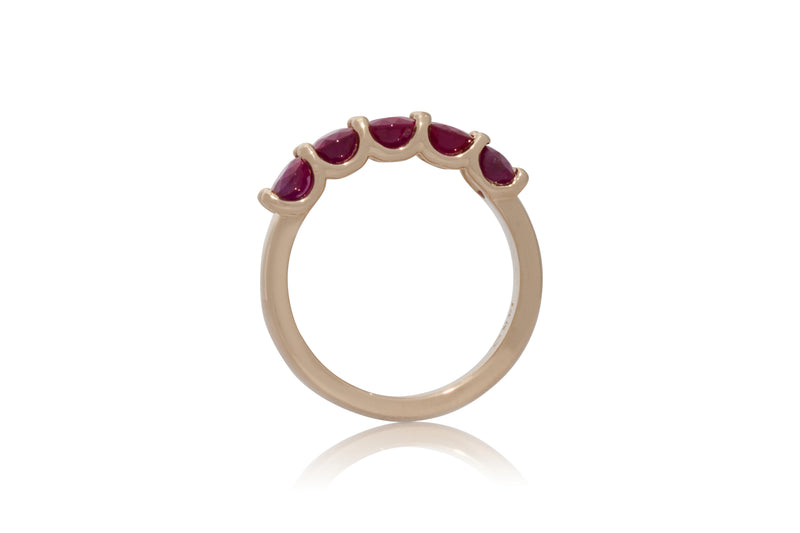 3.03ctw. Oval Ruby Band
