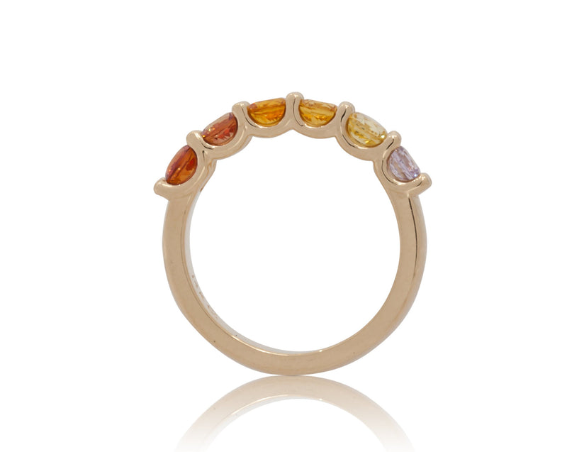 2.20ctw. Golden Sunset Ombré Fancy Band