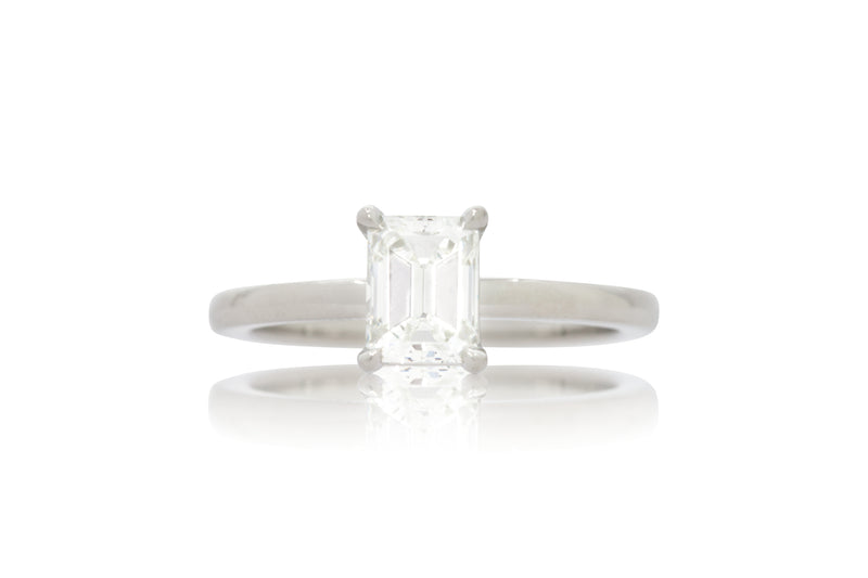 Diamond Emerald Cut Solitaire