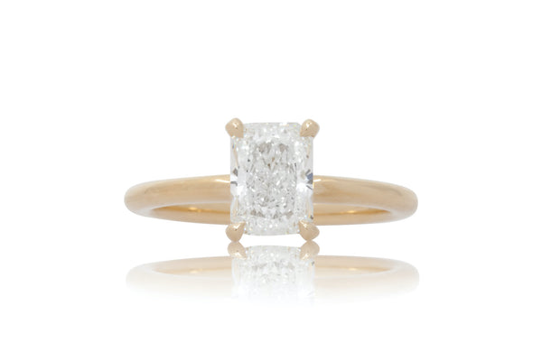 Yellow Gold Radiant Diamond Solitaire