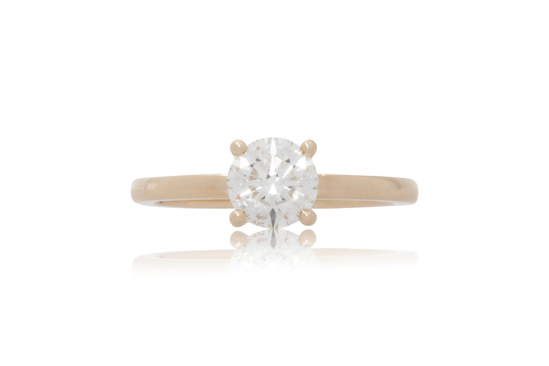 0.96ct. Round Diamond Solitaire