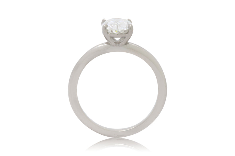 1.70ct. White Gold Oval Diamond Solitaire