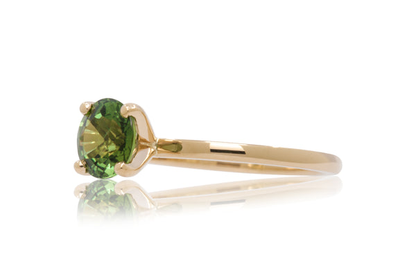 1.67ct. Round Green Sapphire Solitaire