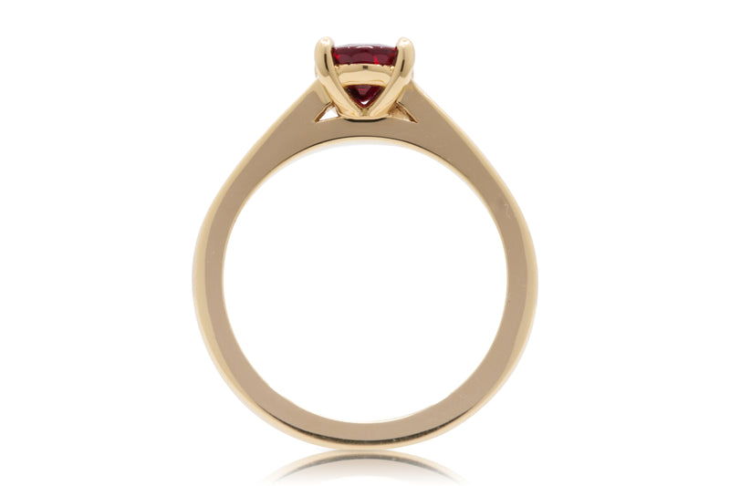 1.26ct. Oval Cut Vivid Red Mozambique Ruby Solitaire