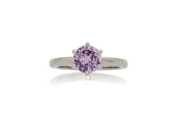 1.61ct. Round Pink Sapphire Solitaire