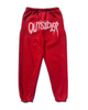 PLATINUM RHINESTONE SWEATPANTS - RED