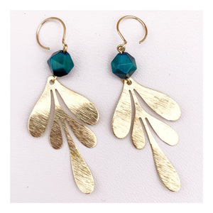 Fern Leaf Earrings | Tiger Eye multiple Colors