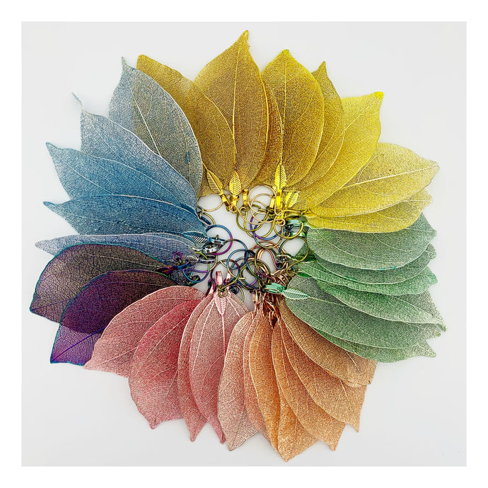 Real Leaf Earrings | Spring Colors