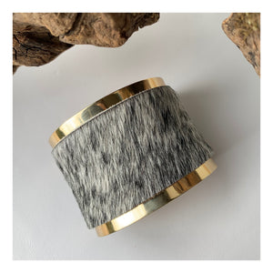 Brass and Mouse Leather Bracelet | concave