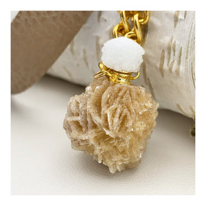 Desert Rose Vial | Leather Necklace