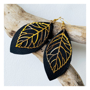 Fall Leaves | Black