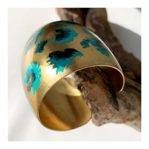 Cheetah Cuff | blue