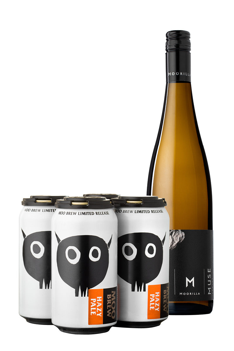 Hazy Pale 4 Pack + Muse Pinot Gris 2018 product shot