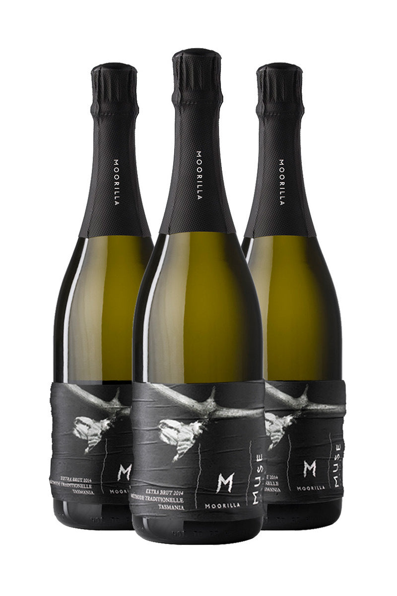 Muse Extra Brut Sparkling 2014 Crinkly Labels Triple Pack product shot