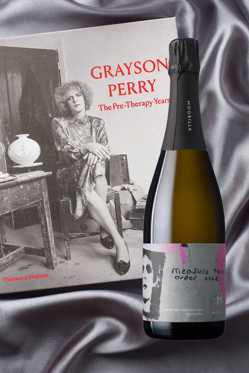 Grayson Perry: The Pre-Therapy Years + Praxis Sparkling Riesling 2018 product shot