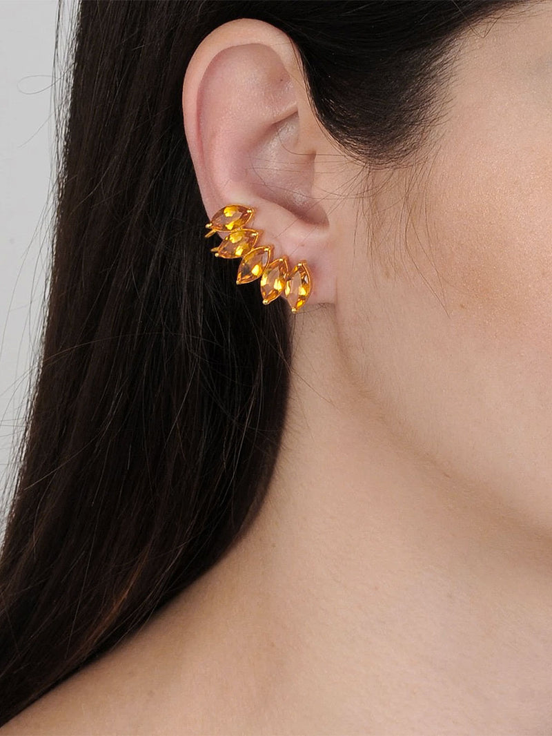 Clio Citrin Ear Cuffs