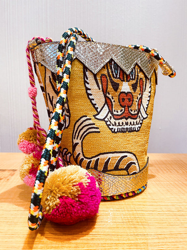 Boho Bucket Bag Tiger