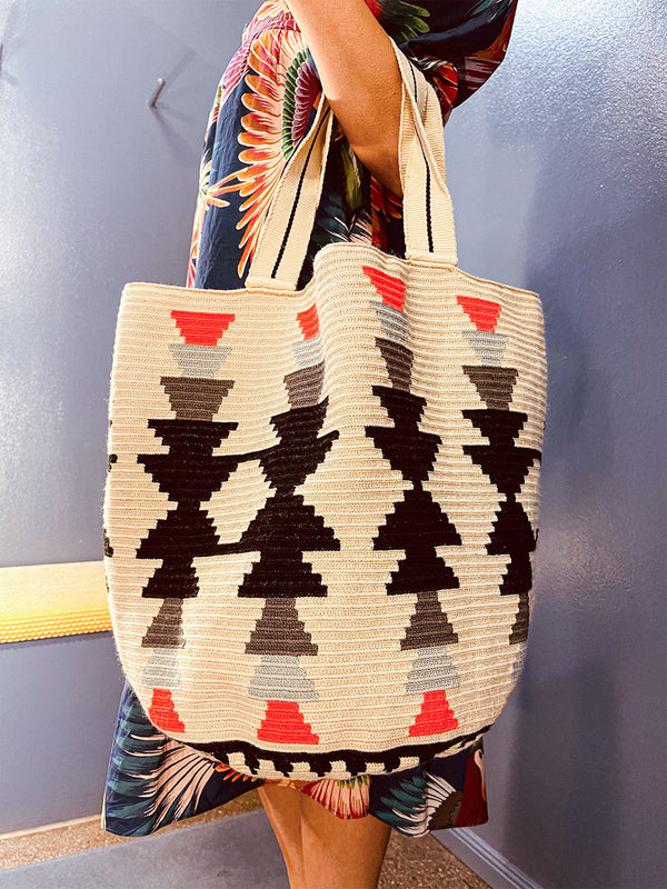 Guanabana Tote Bag Aztec Black
