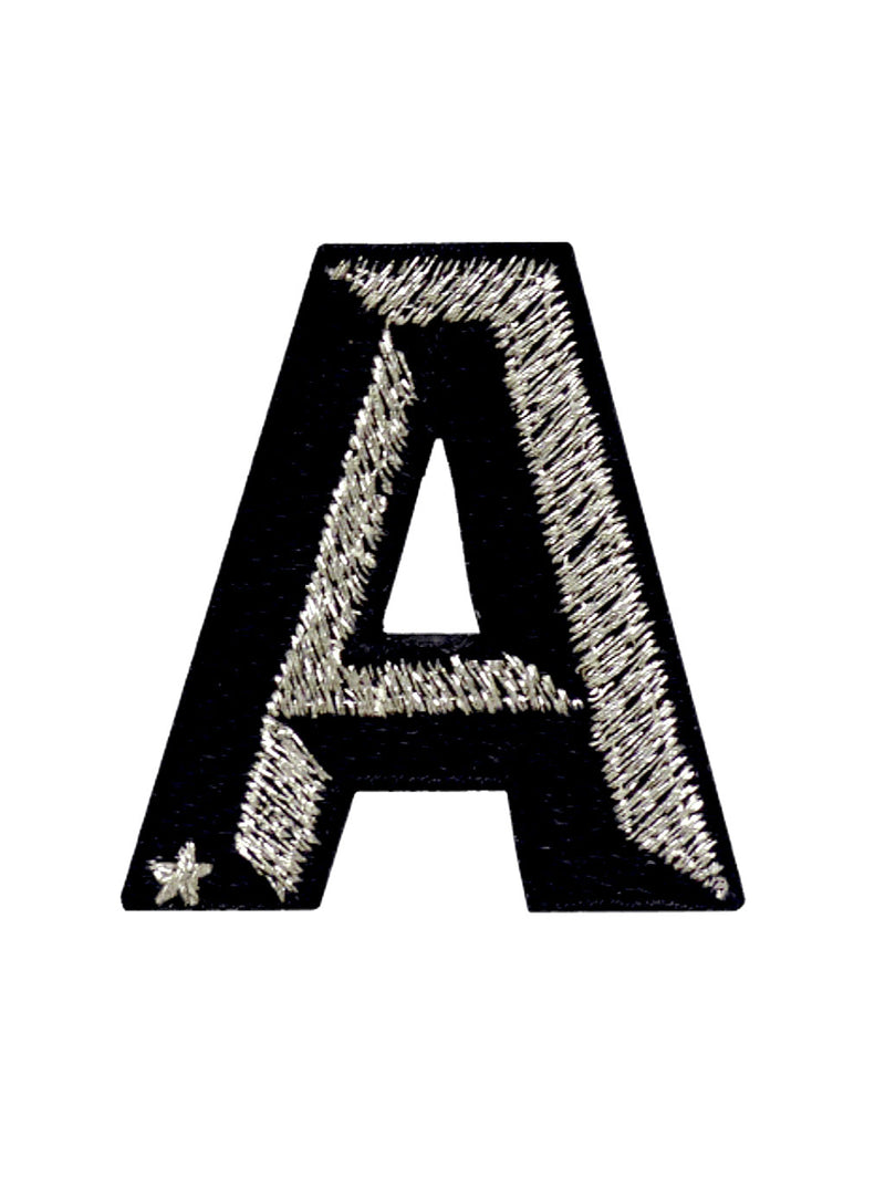 Label Single Letter Mini Schwarz/Silber
