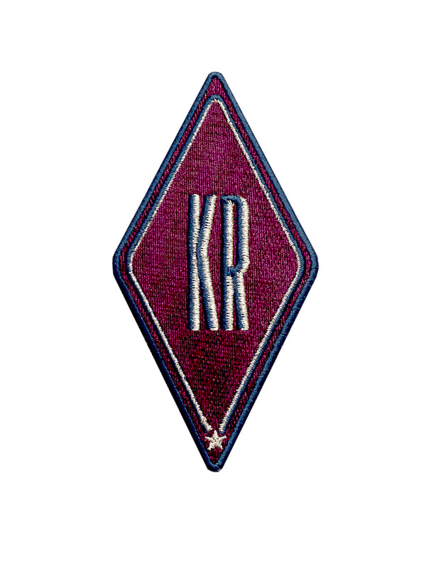 Patch mit Initialen 'Bordeaux'