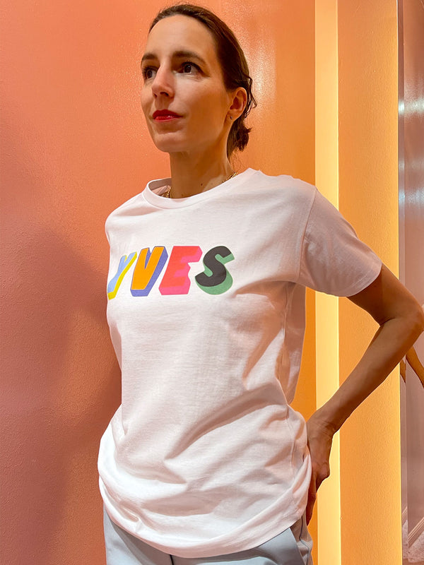 'YVES' Statement T-Shirt