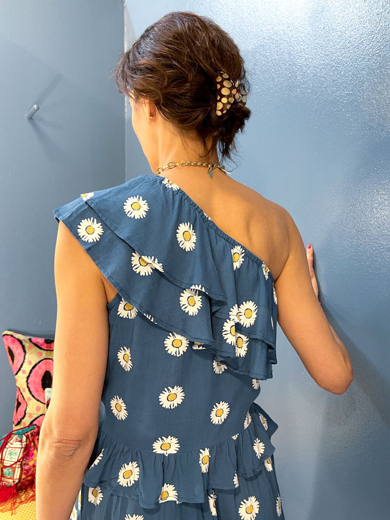 One-Shoulder Daisy Top