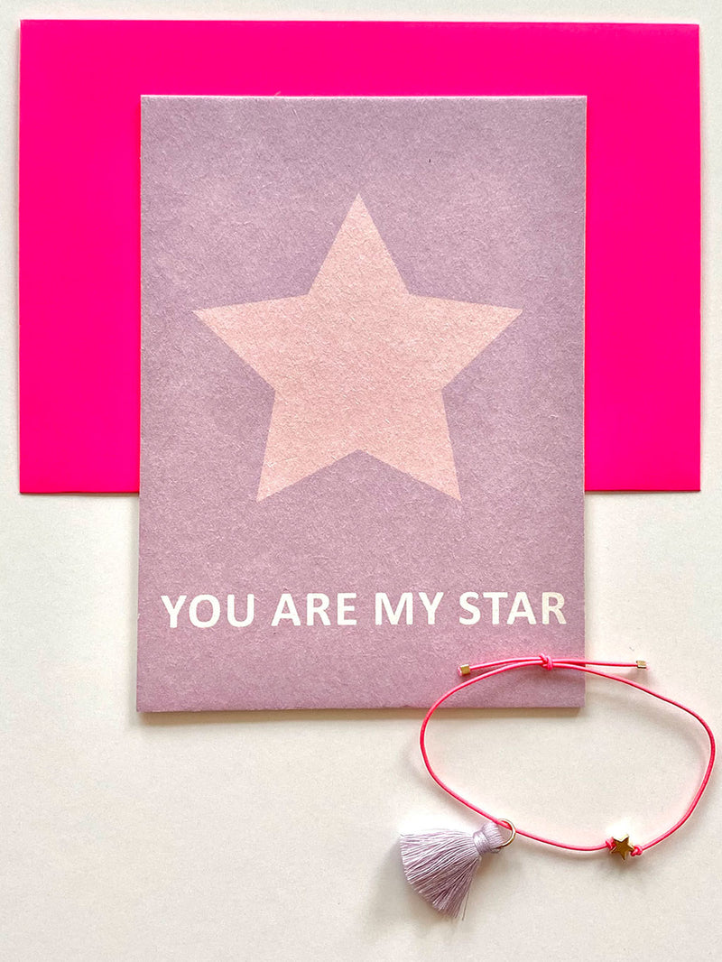 Karte mit Armband You Are My Star