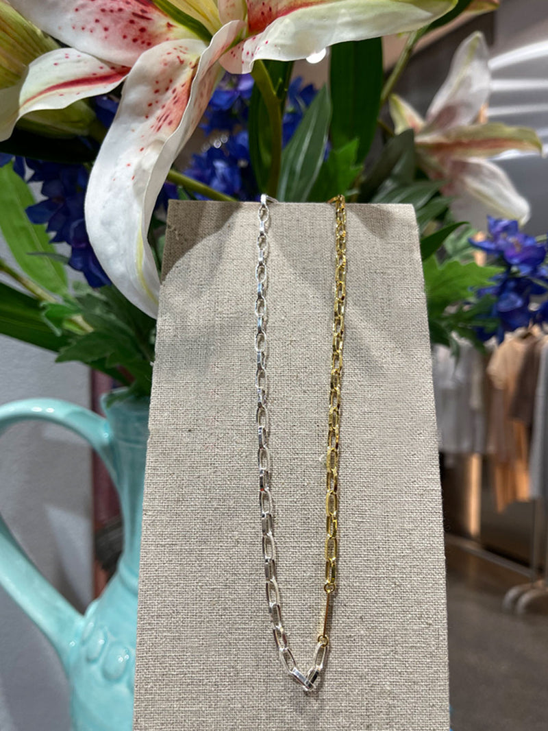 Silber Gold Halskette Chain Statement Modern