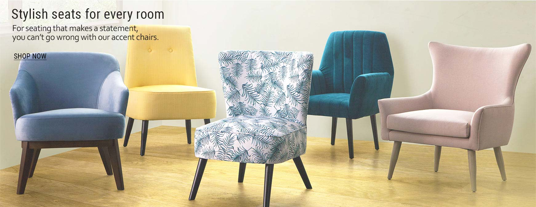 22-Accent chairs of different styles and color