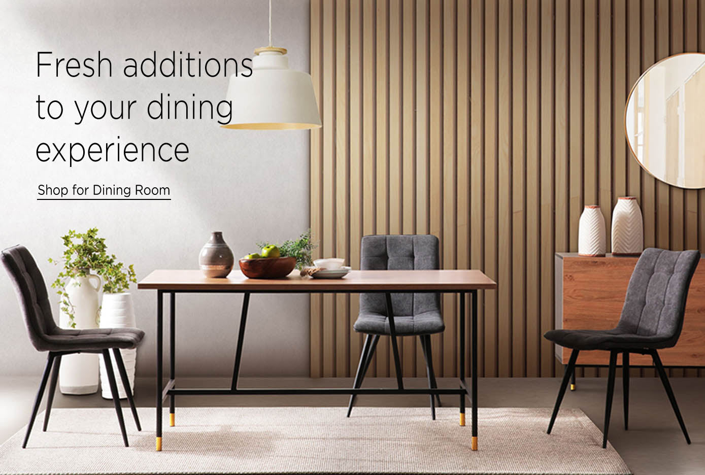 10-Wooden_dining_table_with_chairs_and_bench_in_front_of_wooden_accent_wall