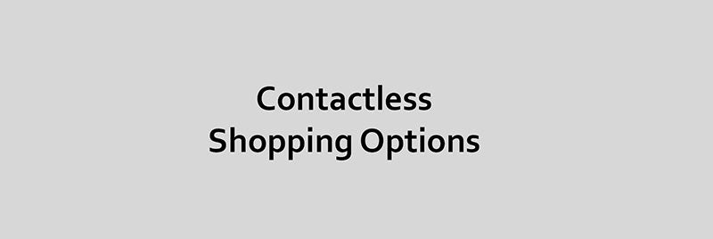 contactless shopping options banner