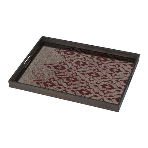 Medium Burgundy Ikat Tray
