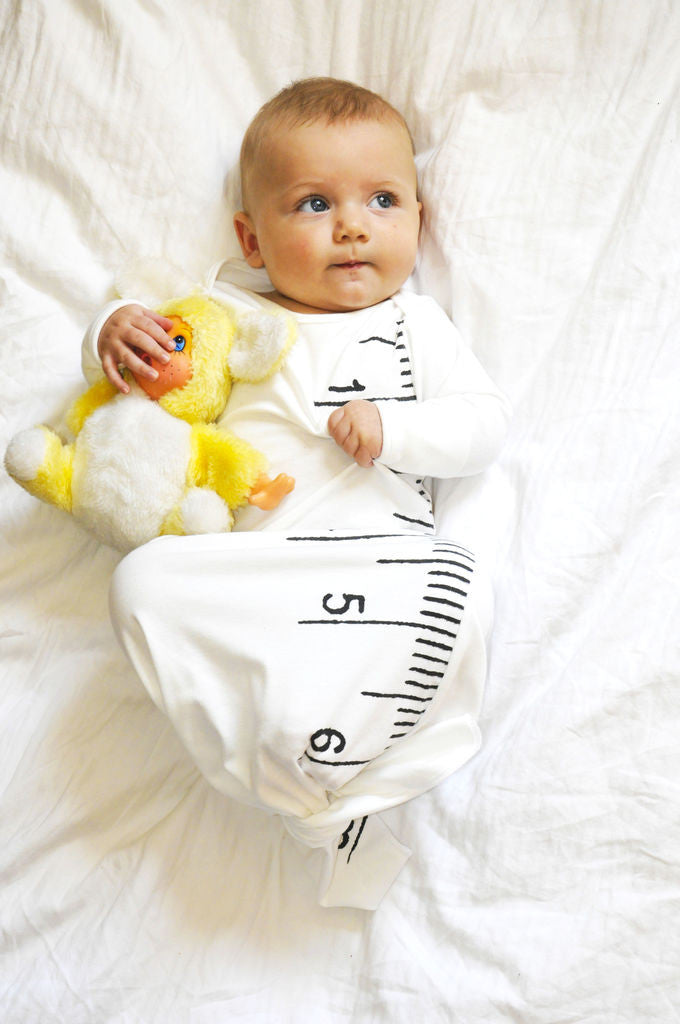 Electrik Kidz ruler baby sleeping gown at Bonjour Baby Baskets