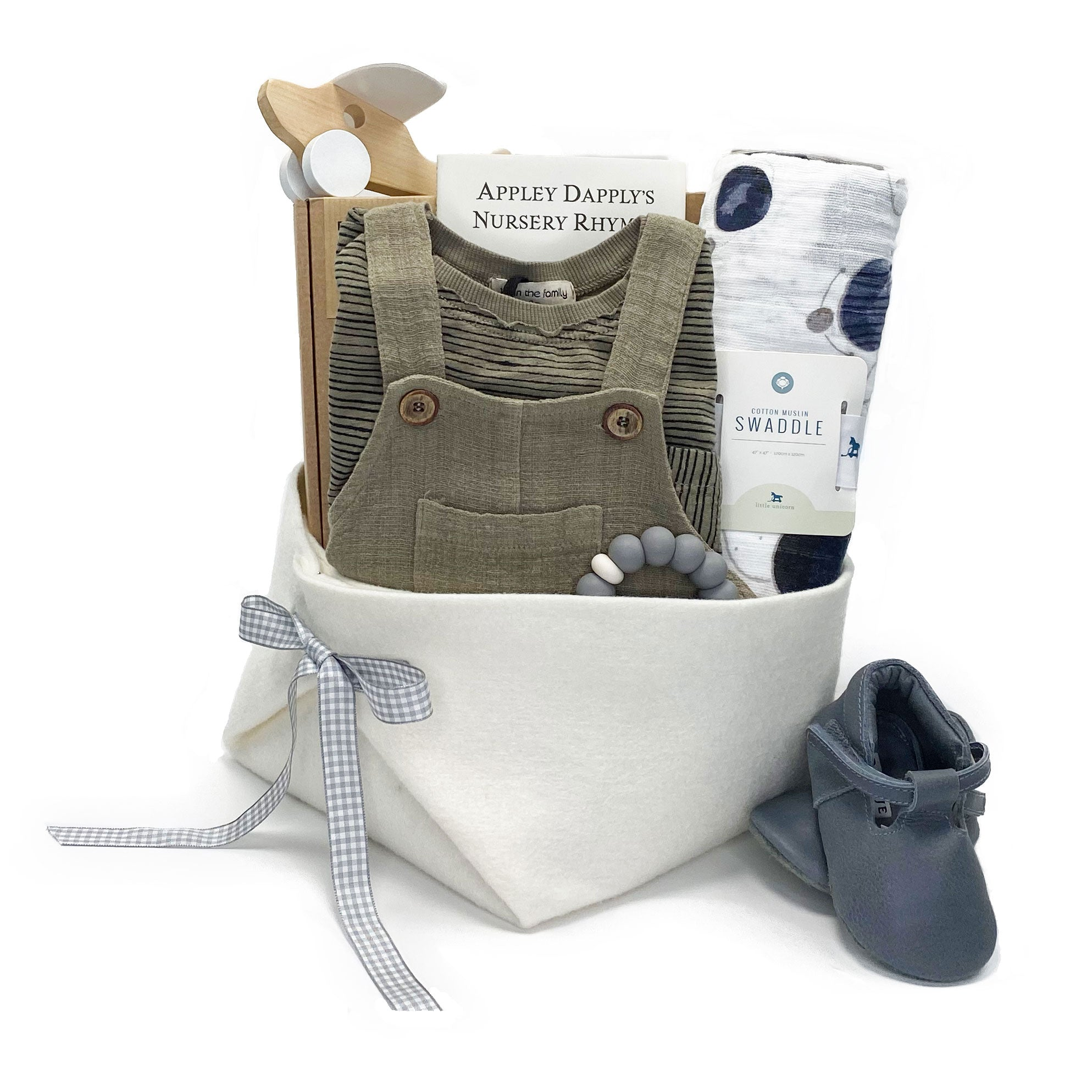 Luxury Baby Gift Basket featuring 1+ in the Family