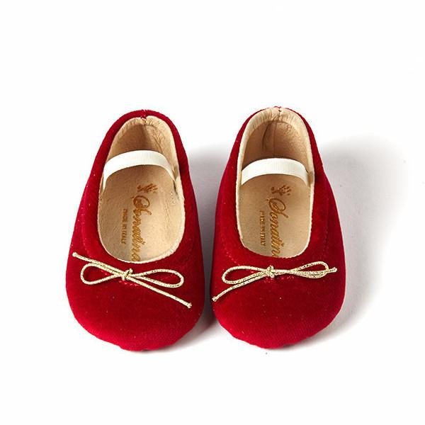 Red Velvet Holiday's Baby Flats by Sonatina at Bonjour Baby Baskets