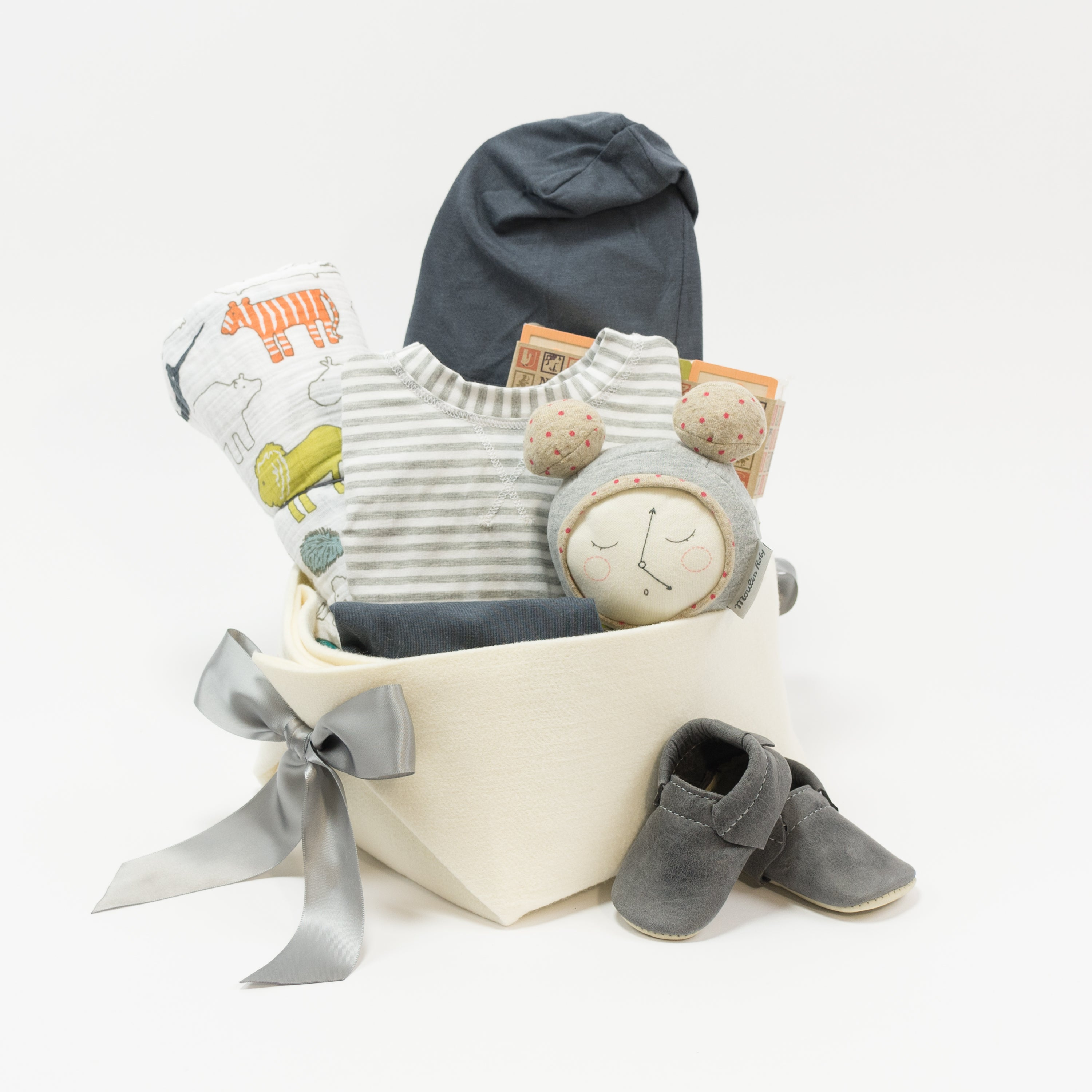 Baby Gift Basket in neutral colours