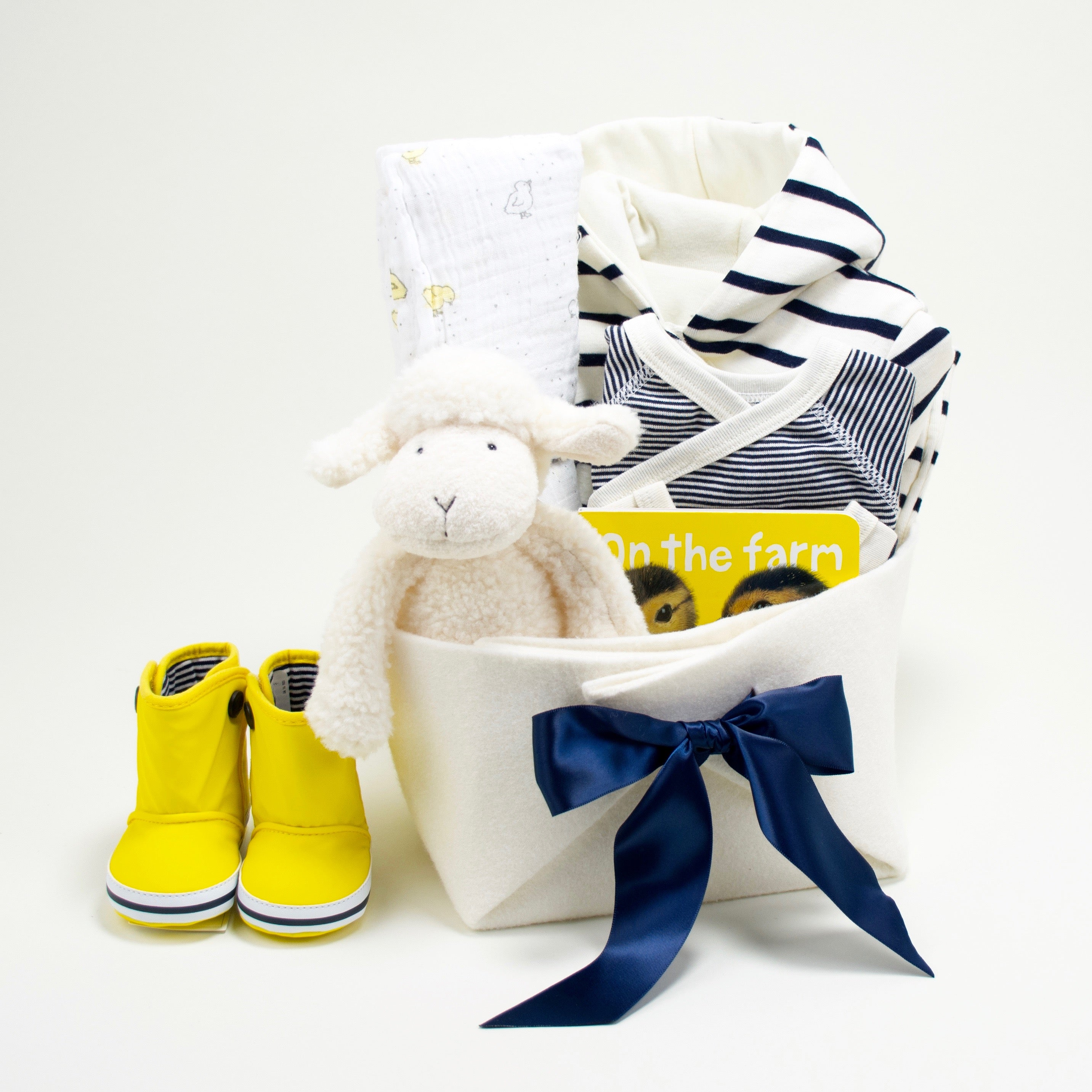 Petit Bateau neutral luxury baby gift basket