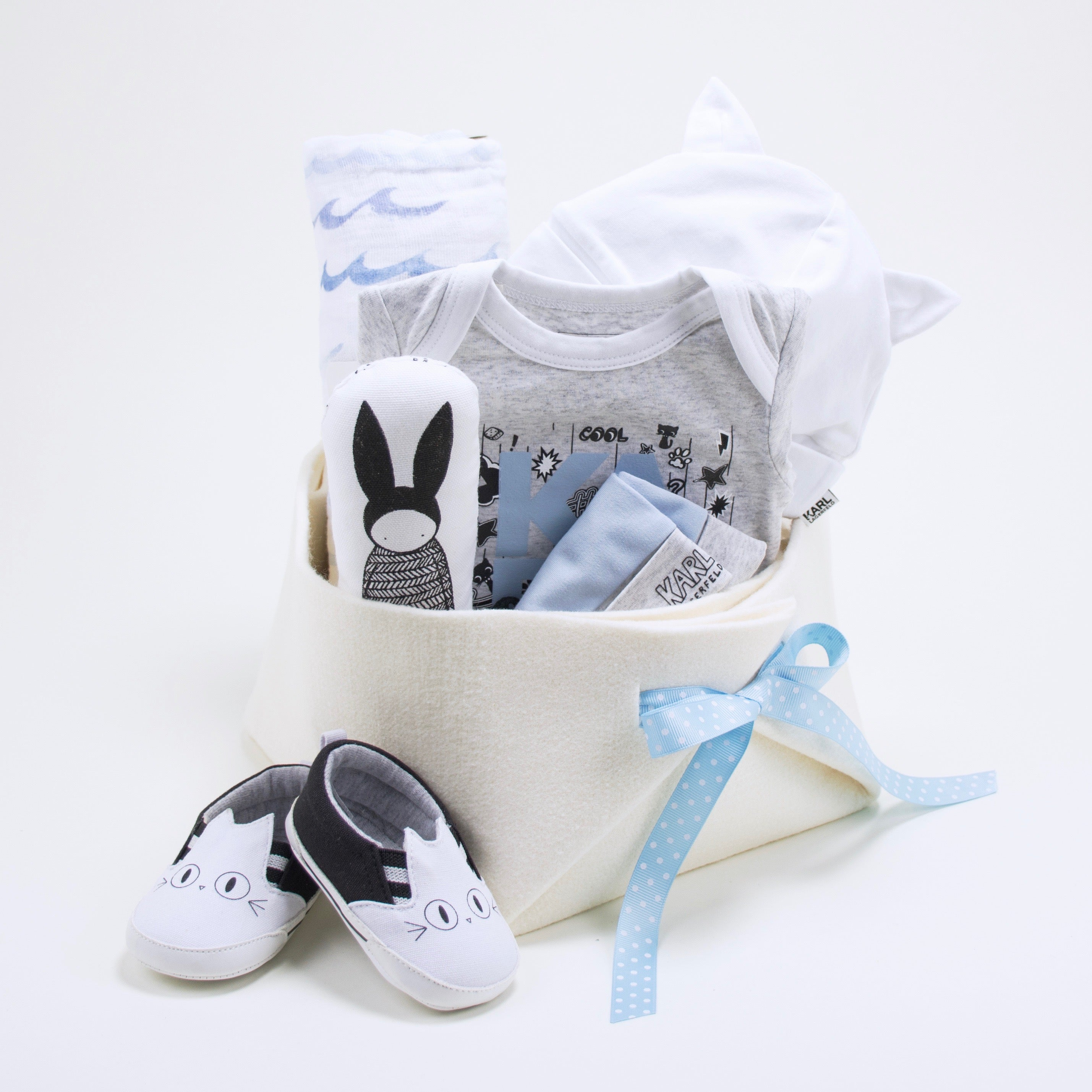 Karl Lagerfeld Luxury Baby Gift at Bonjour Baby Baskets