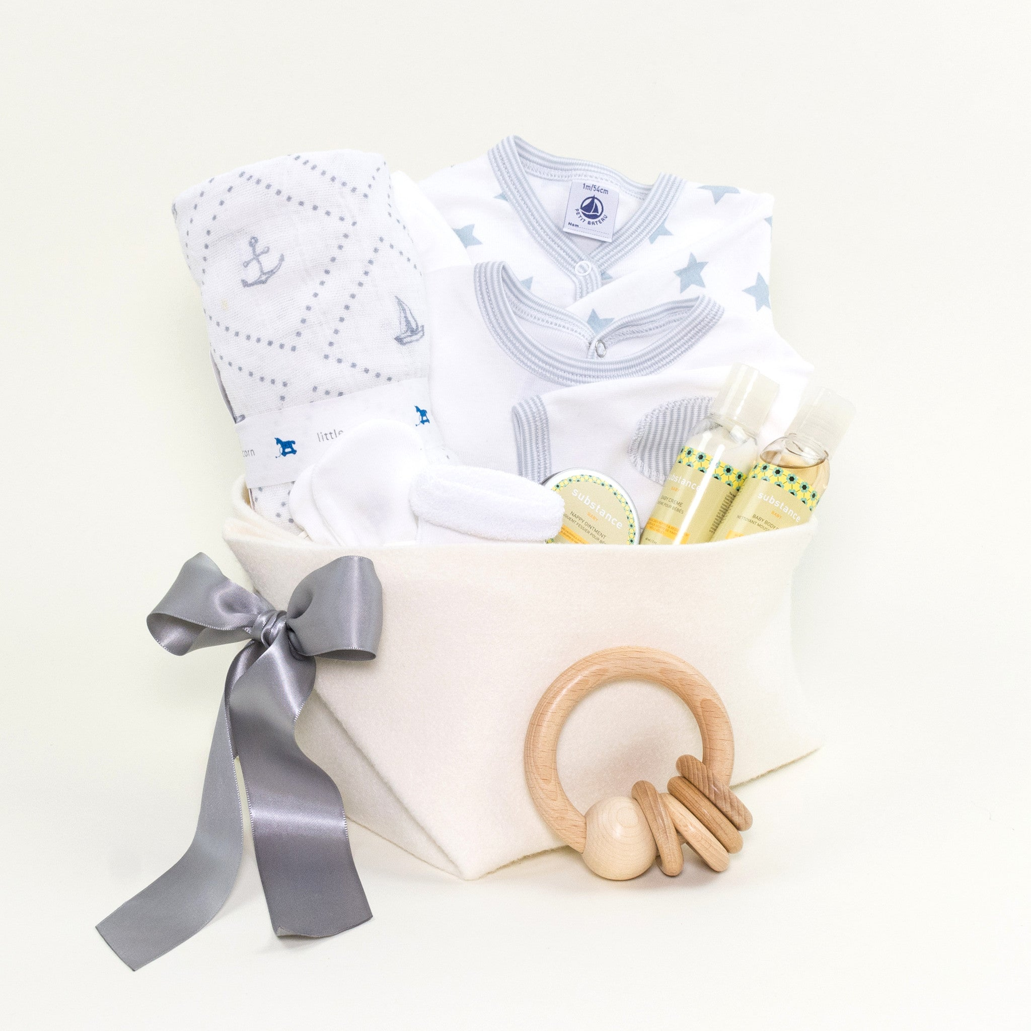 Luxury Baby Gift Basket featuring Matter Company Baby Products