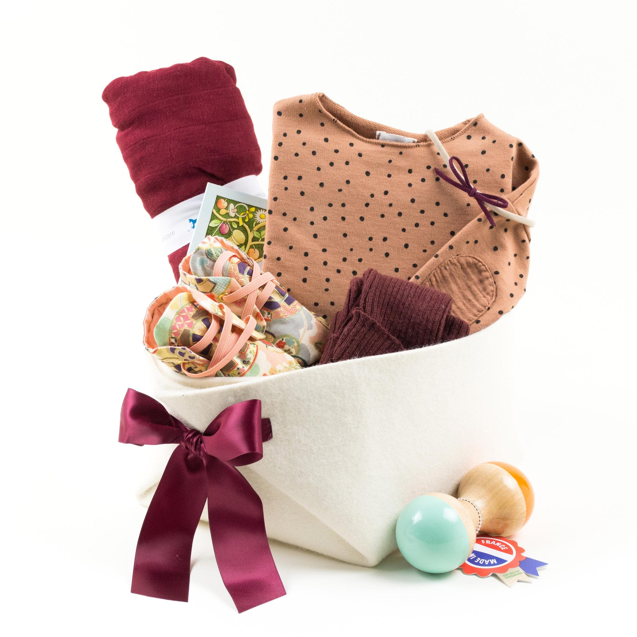 Luxury Baby Gift Basket by Bonjour Baby Baskets featuring Buho Barcelona