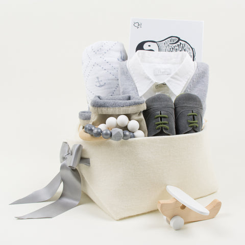 Luxury Baby Boy Gift Basket by Bonjour Baby Baskets