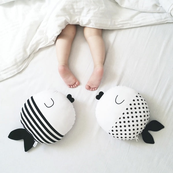 Baby Toy and Pillow Fish by Pinch toys available at Bonjour Baby Baskets