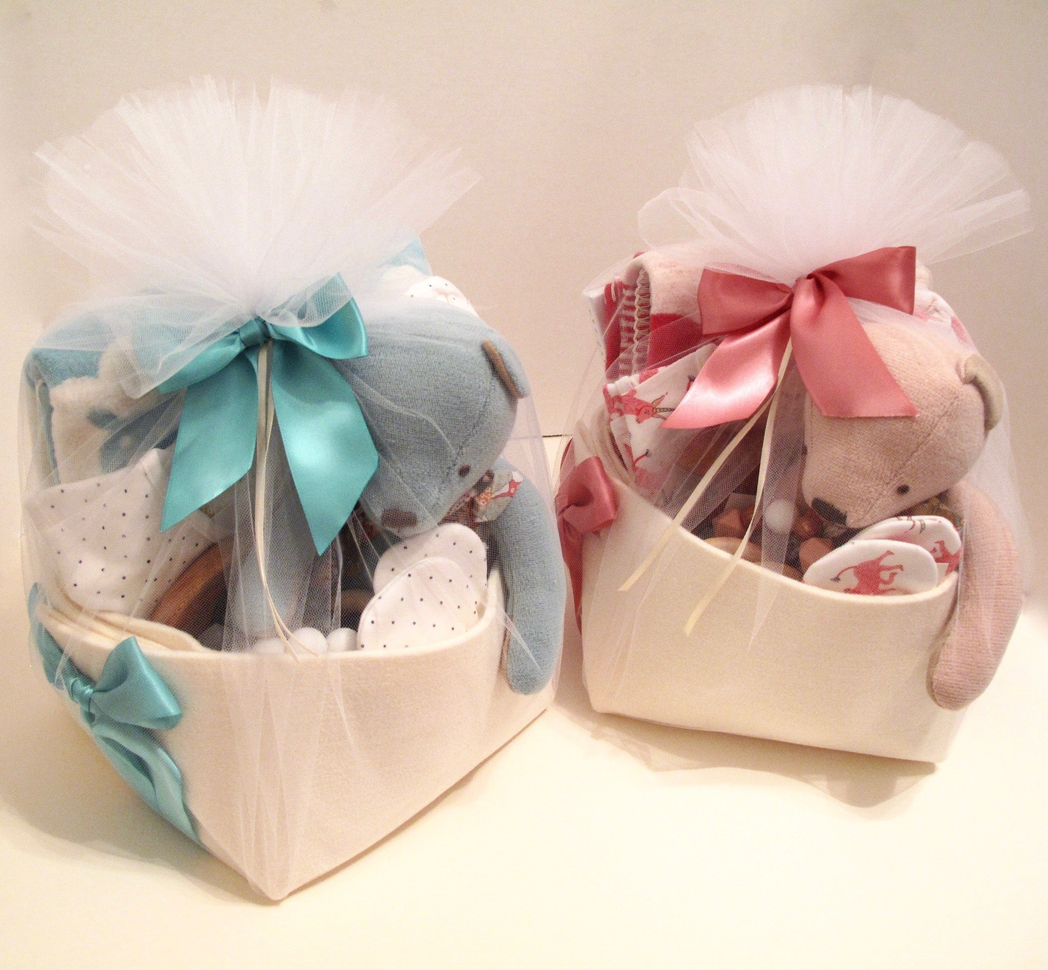 BYOB (Build Your Own Baskets) for Twins Custom Made by Bonjour Baby Baskets